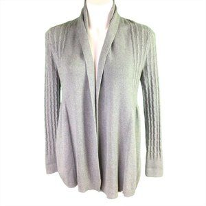 Sonoma Open Front Cardigan Size Medium Gray Cable